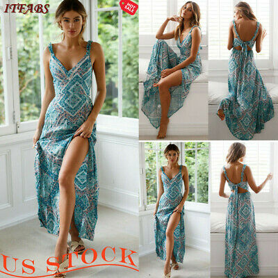75070d537272f Spring Dress Womens Tunic sleeveless Print Cocktail Party Evening Floral  Dresses