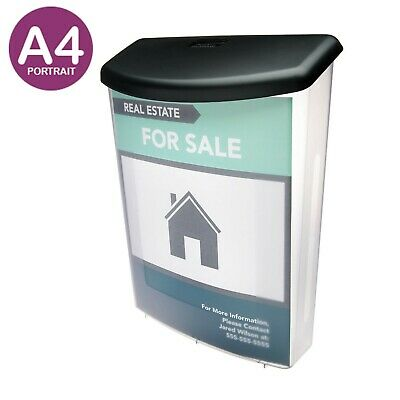 Outdoor Weatherproof Brochure Holder - A4