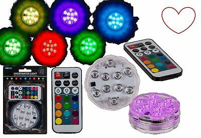 LED Underwater Light Waterproof 10 Colour Remote Control Pool