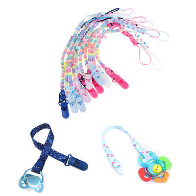 1Pc Newborn baby pacifier clips chain strap soother nipple holder pram hook LU