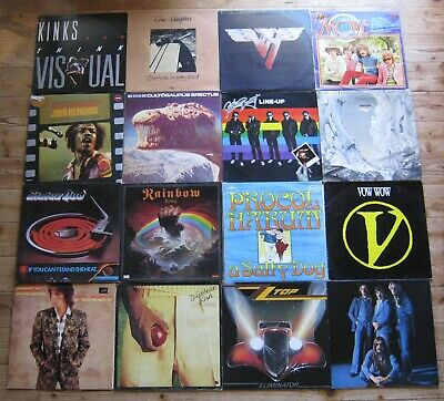Job Lot 50 x Vinyl record Lp's Rock ,Beatles ,Hendrix ,Yes ,free ,Rainbow etc.