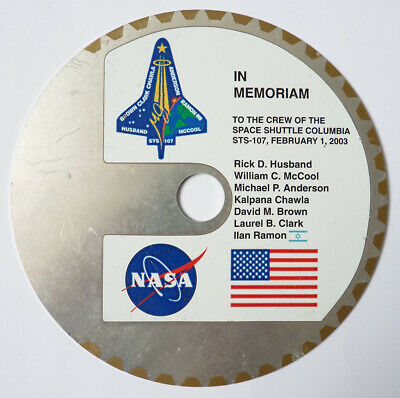 In memoriam To the crew of Space Shuttle Columbia Plaque commémorative NASA