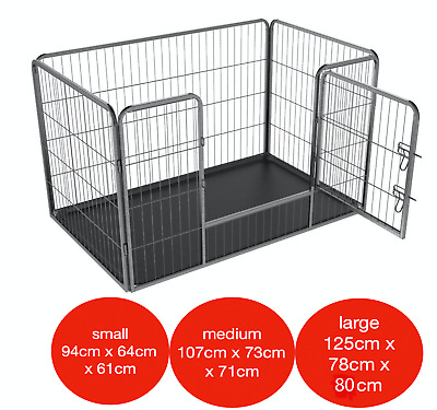 4pc Heavy Duty Puppy Play Pen Dog Crate Whelping Box Rabbit Enclosure Dog Cage