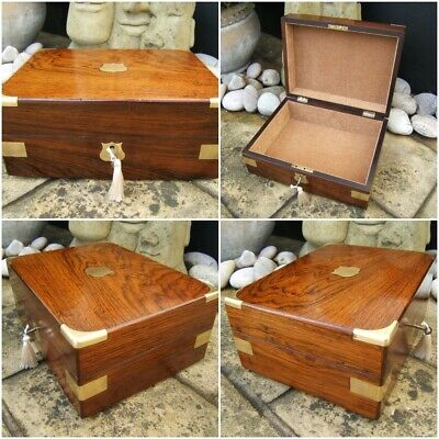 SUPERB LARGE 19c ROSEWOOD ANTIQUE DOCUMENT/JEWELLERY BOX  FAB INTERIOR