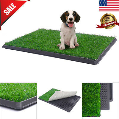 "30""X20"" Puppy Pet Potty Toilet Trainer Grass Mat Pee Indoor Toilet Pad Mat Turf"