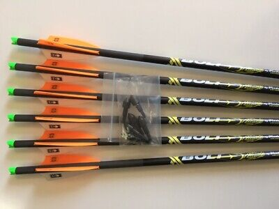 """Pse Fang Crossbow Bolts By Victory 6 Pack H/Moon 22"""" Hot Orange Free Points !"""