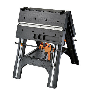 Pegasus Folding Work Table Sawhorse & Workbench Quick Clamp Table Joiner Folding