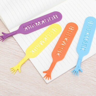 8pcs Cute Hand Shape Childrens Bookmarks Book Page Markers Reader Gift Set Q1T4Z