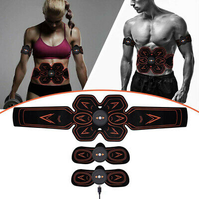 Electric Muscle Toner EMS Machine Wireless Toning Belt Simulation Abs Recharge L