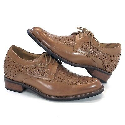 74d27f97ee6 TOTO Mens Size 8 Increase Height 3-Inches Elevator Woven Leather Dress Shoe