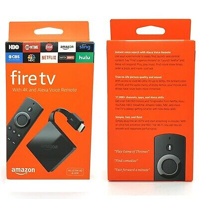 Amazon Fire TV 3rd Gen 8GB with 4K Ultra HD and Alexa Voice Remote Black - NEW
