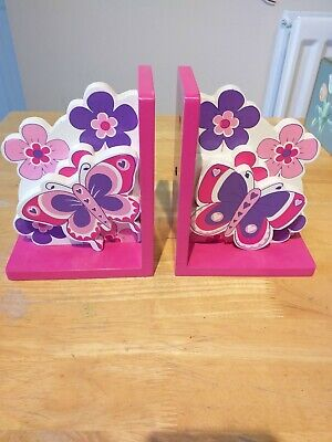 Wooden Butterfly Bookends
