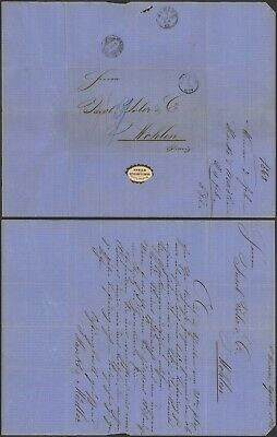 Germany 1868 - Stampless cover Weimar to Wohlen Switzreland