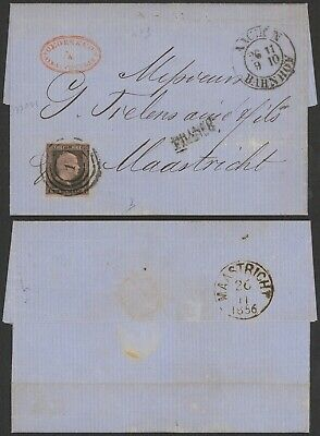 Germany Prussia 1856 - Cover Aachen to Maastricht Netherlands