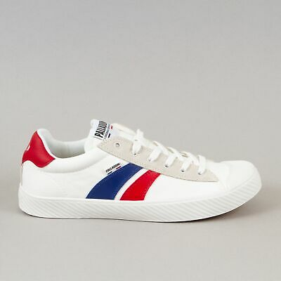 d9caec468485d PALLADIUM MENS PALLAPHOENIX Flame Canvas Trainer in STAR WHITE & FRENCH