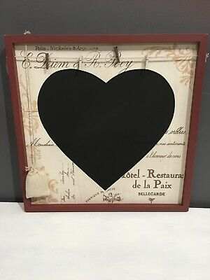 chalk board. Heart With Pegs Vintage Design