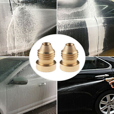 1PC Foam Cannon Orifice Nozzle Tips Thread Nozzle Brass For Snow Foam Lance