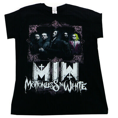 Motionless In White Portrait Band Men's T-shirt Black Official Licensed Music