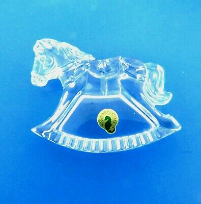 Waterford Ornament Rocking Horse Crystal Sculpture Figurine Made in Ireland