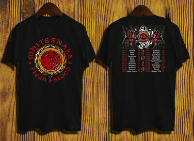 WHITESNAKE FLESH AND BLOOD TOUR DATES 2019 T-shirt 2 side tee ALL SIZE