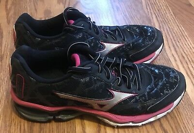 0923598fcbf6 MIZUNO WAVE CREATION 16 Womens Black Silver Pink Running/Athletic Shoes  Size 7.5