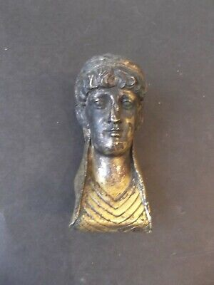 Original Empire Bronze Kopf vergoldet um 1800