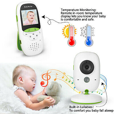 2.4GHz Wireless Video Baby Monitor Camera 2-Way Talk Night Vision Audio LCD Play
