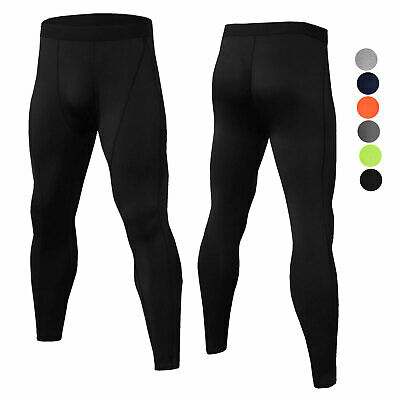 Men's Compression Tights Gym Yoga Running Baselayer Moisture Wicking Bottoms