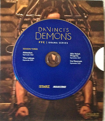 DA VINCI'S DEMONs, FYC STARZ EMMY VIEWER DVD 4 Episodes 2016 Season Three