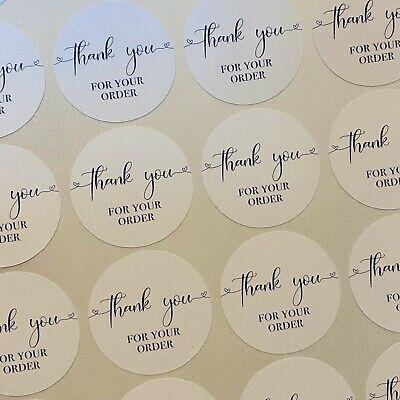 Thank you for your order small business/labels/stickers/postage 25mm Round 2.5cm