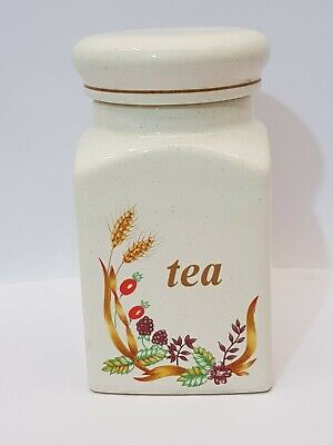 Vintage St Michael Marks And Spencer Harvest Storage Jar Tea
