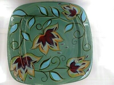 "SOUTHERN LIVING at HOME Gail Pittman GREEN BOUNTIFUL 15-3/4"" Serving Platter HTF"