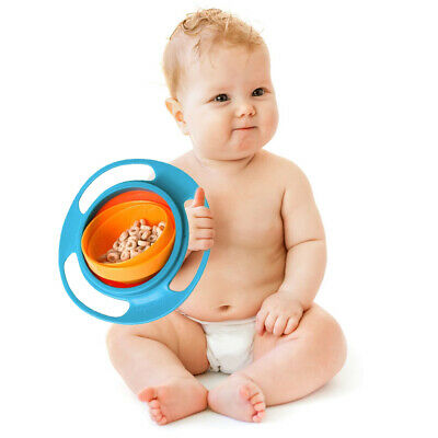 Baby Infant Feeding Dish Cute Gyro Bowl Universal 360 Rotate Spill-Proof Bowl