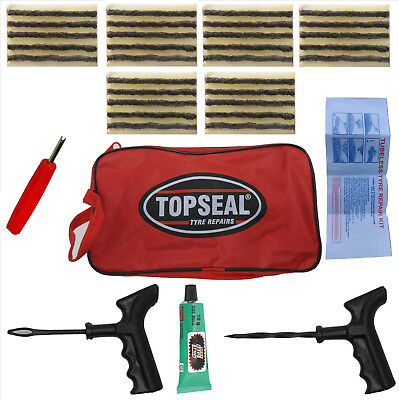 36Pcs Tire Puncture Repair Kit Tool Emergency Car Van Motorcycle for Tubeless