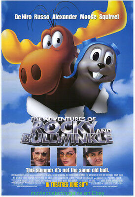Adventures Of Rocky And Bullwinkle Movie Poster De Niro