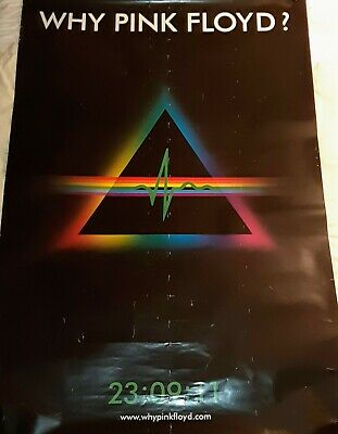Why Pink Floyd? HUGE 2011 PROMO double sided poster Dark Side 102 x 153cm