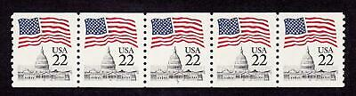 PNC5 22c Flag 7 US 2115a MNH  F-VF