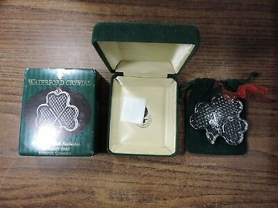 Waterford Crystal Marshall Fields  The Great Tree Shamrock Ornament 125344