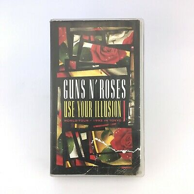 GUNS N ROSES USE YOUR ILLUSION I WORLD TOUR 1992 IN TOKYO VHS ATENCION ver fotos