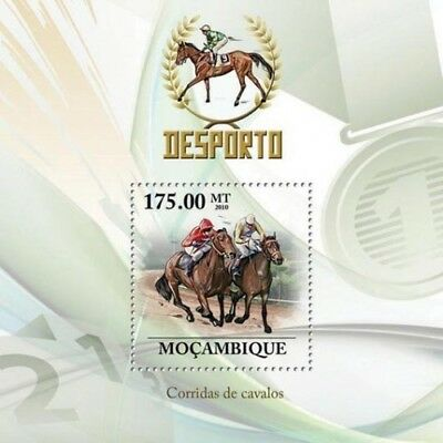 Mozambique 2010 Sheet Mnh Horse Racing Carreras De Caballos Sports Deportes 1A