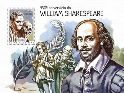 Guine Bissau 2014 Sheet Mnh William Shakespeare Writers 5A