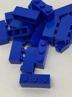 Lego lot of 10 2x4 dot EARTH BLUE BRICK WITH BOW B470