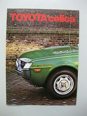 Toyota Celica LT ST folder brochure Prospekt text Dutch 8 pages 1974