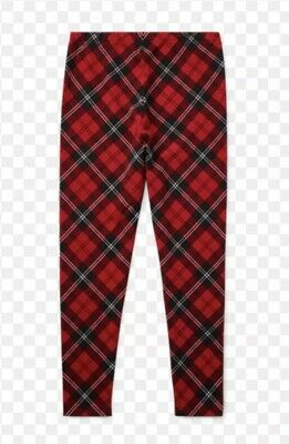 NWT Girl's Polo Ralph Lauren Red Holiday Plaid Leggings Pants Size 5 7 8 10 16