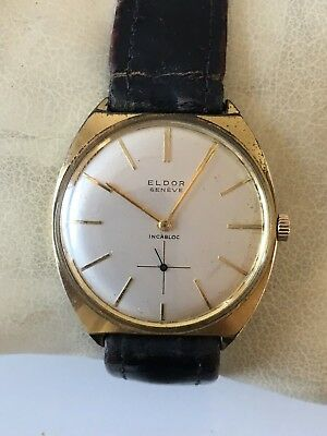 Rare Collectable Gents ELDOR Geneva incabloc watch