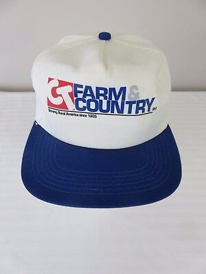 a8858e6775342 Men s White Red Blue C.T. Farm and Country Snapback Adjustable Hat Cap