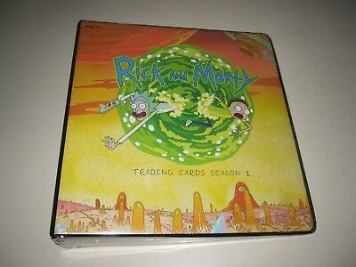 SEALED Rick and Morty Cryptozoic Season 1 Binder for trading cards Roiland &