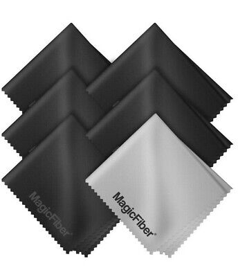 6-Pack MagicFiber Microfiber Cleaning Cloths for Lens DSLR Glasses TV Screen