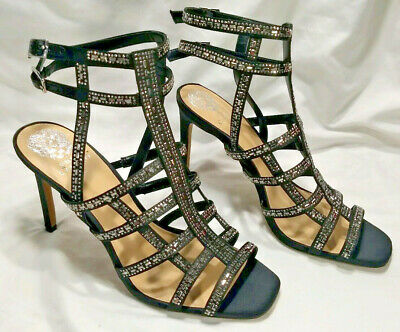 d1fc0fe6a8d Vince Camuto Womens Size 11 VP-Pascala Strappy Black Embellished Heels