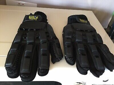 Delta Force Black Reinforced Protection Painballing Gloves